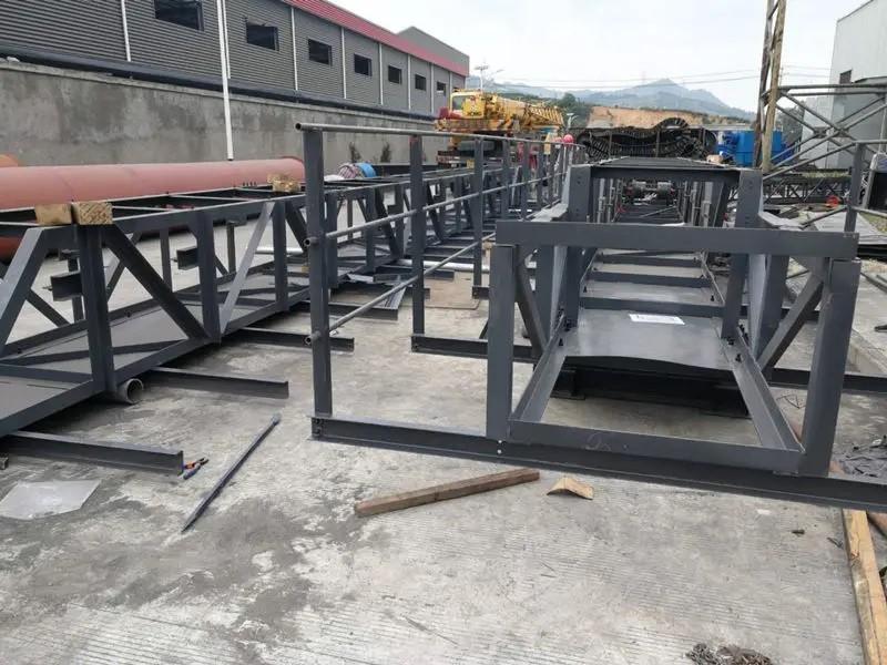 Установка широкоугольного ленточного конвейера