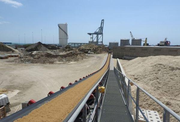 Система наземных ленточных конвейеров KL для химической горнодобывающей промышленности и зерновой промышленности
