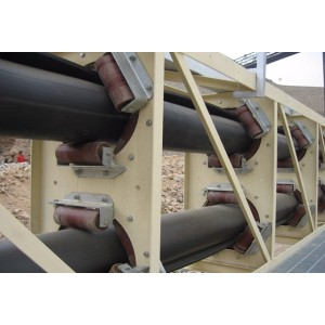 KP Long Distance Tube Type Pipe Belt Conveyor for Conveying Bulk Materials