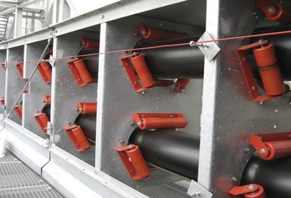 Ленточный конвейер для труб KP используется для угля, минеральной руды, зерна, цемента