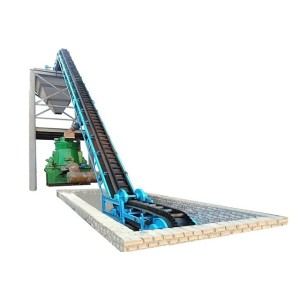 KS Large Inclined Corrugated Sidewall Belt Conveyor systems for Concrete Aggregate