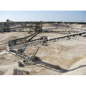 Aggregate Portable Radial Stacker Conveyor for Quarry Mining Mineral Processing Plant