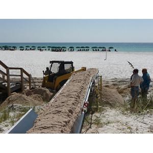 Dirt Conveyor System for Tansferring Soil Aggregate Sand