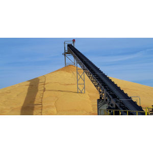 Large Scale Grain Belt Conveyor for Stacking Corn, Rice,Wheat