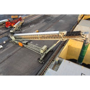 KYD High Efficiency Reliable Conveying Solution Tracked Stacking Conveyor