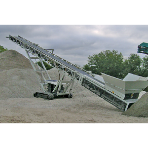 Tracked mounted mobile belt conveyor applied for all kinds of bulk and granular material