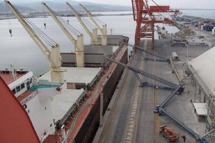 Barcaza de carga transportadora móvil