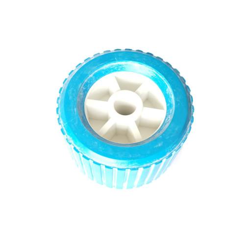 Rodillos oscilantes de goma para barcos de fibra de vidrio Remolque Color azul