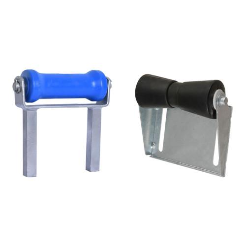 Quilla ajustable y soportes de rodillos para remolques de barcos