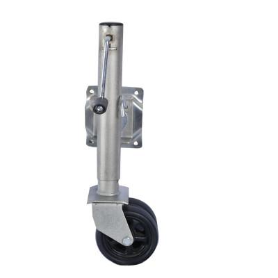 8 pulgadas giratoria Jockey Wheel Stand Side Wind para caravana Remolque