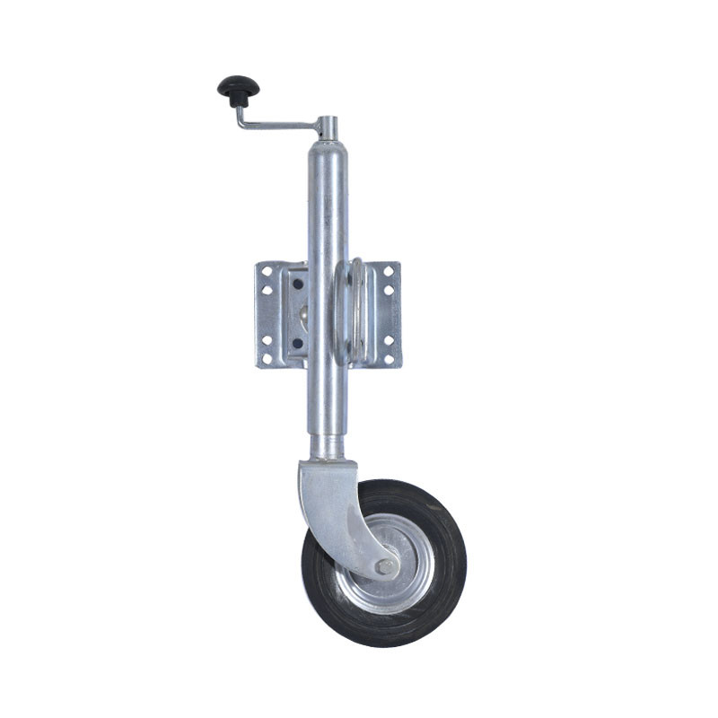 Tongue Jack With Rubber Wheel For Utility Trailer
