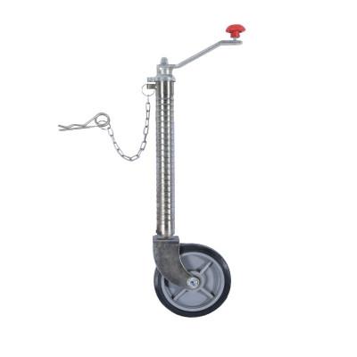 Lengüeta Jack con rueda de goma para remolque utilitario