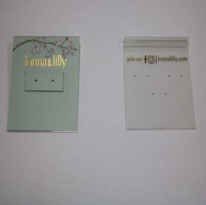 Earrings Studs Fashion Card
