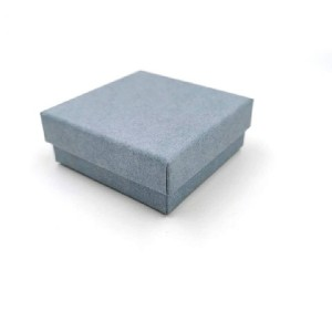 Luxury custom square blue cardboard gift box lids and high gloss blue cardboard boxes packaging