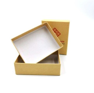 Custom Printed Brown Cardboard Packaging Kraft Paper Packing Box Gift With Lid
