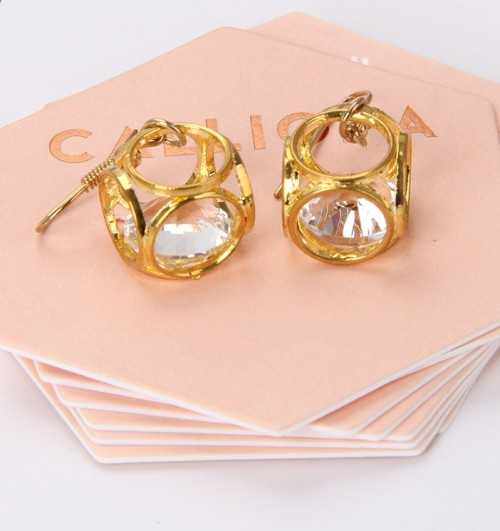 Pink Hexagon Paper Earrings Earring Frame Card Necklace Jewelry Display Card