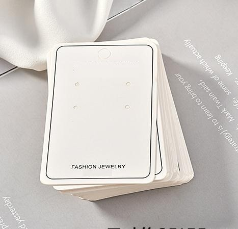 White Simple Paper Earrings Earrings Frame Cards Necklace Jewelry Display Cards