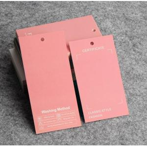 High-End Clothing Label Paper Cards