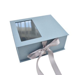High-End Printing Carton Gift Box Storage Box with PVC Window