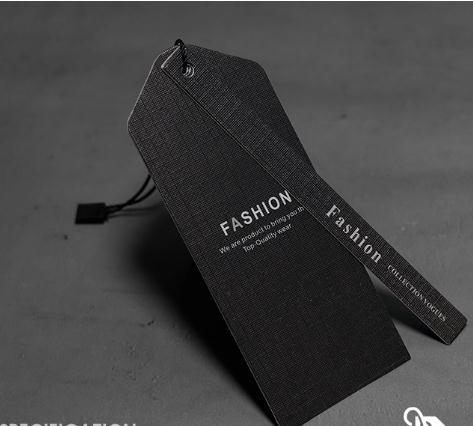 Black High-End Clothing Packaging Display Brand Tag Tag Cards