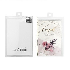 Outer Plastic Packaging Inner Paper Greeting Card Blessing Cards