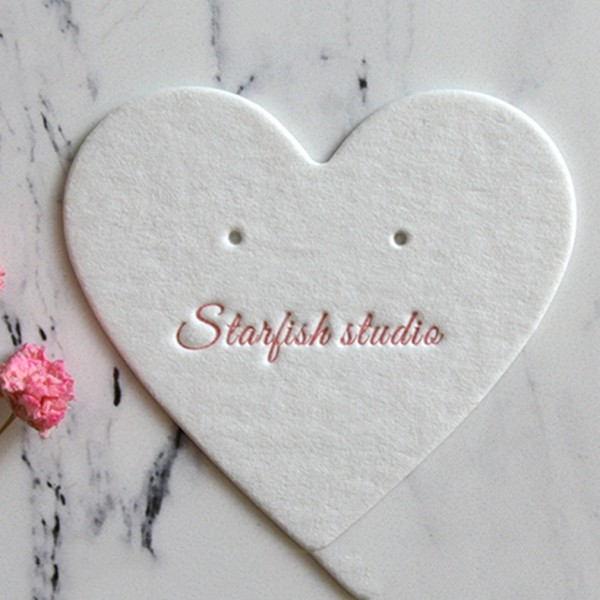 Heart-Shaped Earrings Jewelry Cards Jewelry Display Paper Cards