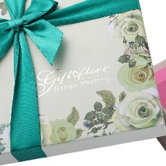 High-End Custom Bow Gift Box Heaven and Earth Cover Box