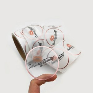 Customized self-adhesive printing label sticker transparent PVC self-adhesive label