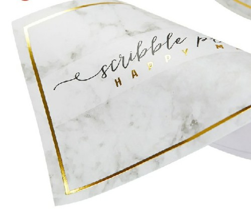Gold Foil Printing Self Adhesive Custom Stickers
