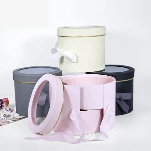 High-End Custom Round Packing Box, Two-Layer Box, Gift Box