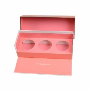 Custom Printed Logo Paper Packing Box Packing Box with Round Die Cut