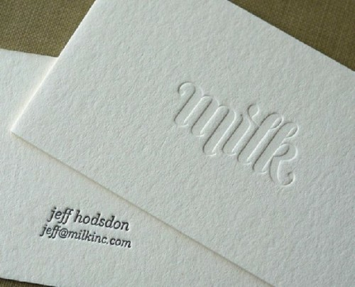 Custom Color Letterpress Printing Business Cards