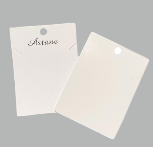 Customized Logo Paper Cardboard Necklace Earrings Jewelry Display Cards