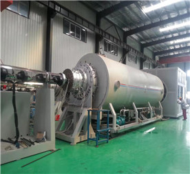 Φ1680 mm Vacuum Calibrating Anticorrosion and Insulation Pipe Making Machine Line