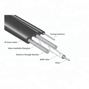 Câble de dérivation à fibre optique d'intérieur 1 2 4 6 8 noyaux FTTH