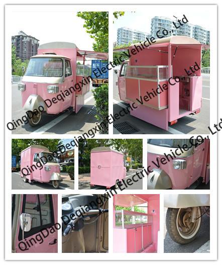 3 wheeler Piaggio Ape food truck