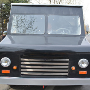 Chinese vintage food truck with dark black color
