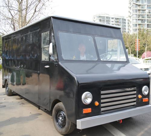 Chinese vintage food truck with dark black color