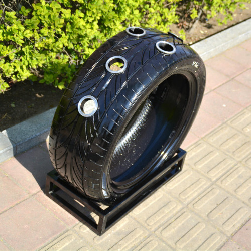 tyre display and decoration from china a food truck manufacturer