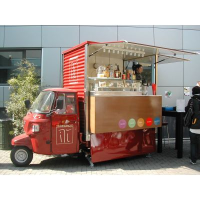 Piaggio motorcycle classic tricycle food truck manufacturer
