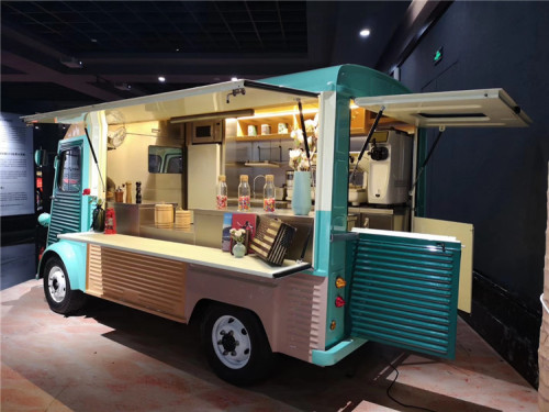 vintage classical food truck in different colors china manufacturer