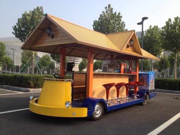 food vehicle, classical vehicle, vintage food truck