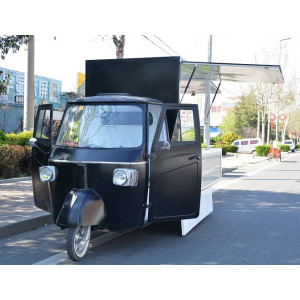 vintage food truck piaggio in black china manufacturer for food business