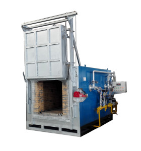 Oil gas fired aluminum melting induction heating furnace