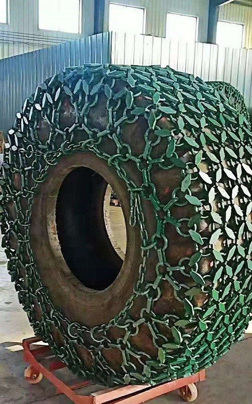 Loader tire used tyre protection chains