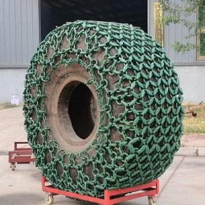 Tyre protection chain for used trencher