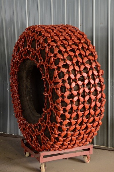 Tyre Chains for wheel loader tyre CAT 988