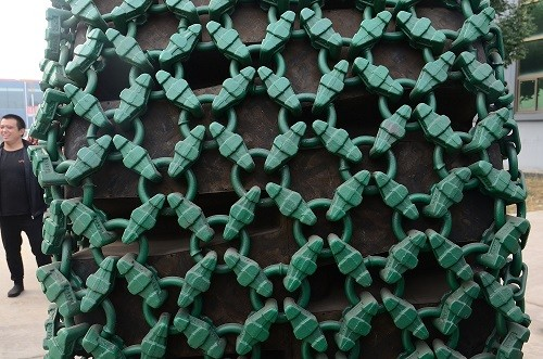 tyre protection chain for japan used komatsu loder 600