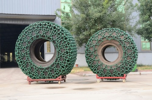 mining tire chains for 26.5-25 tyre wheel loader