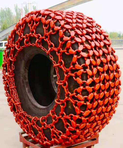 Tyre/tire protection chain for used 966 CAT Wheel loader 29.5-25